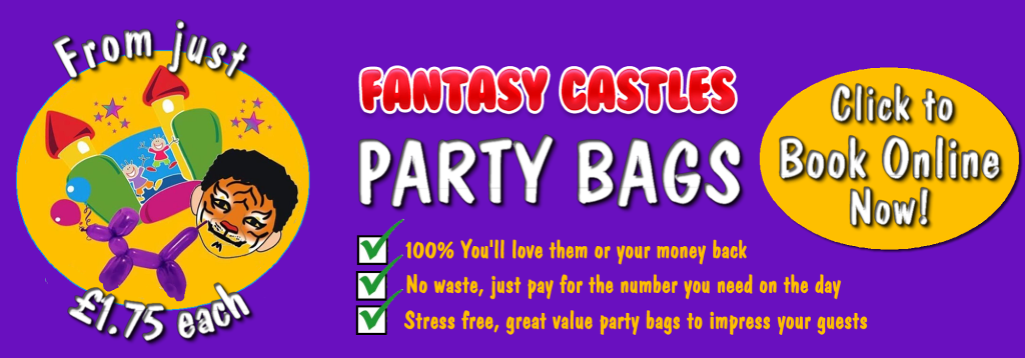Fantasy Castles Party Bags