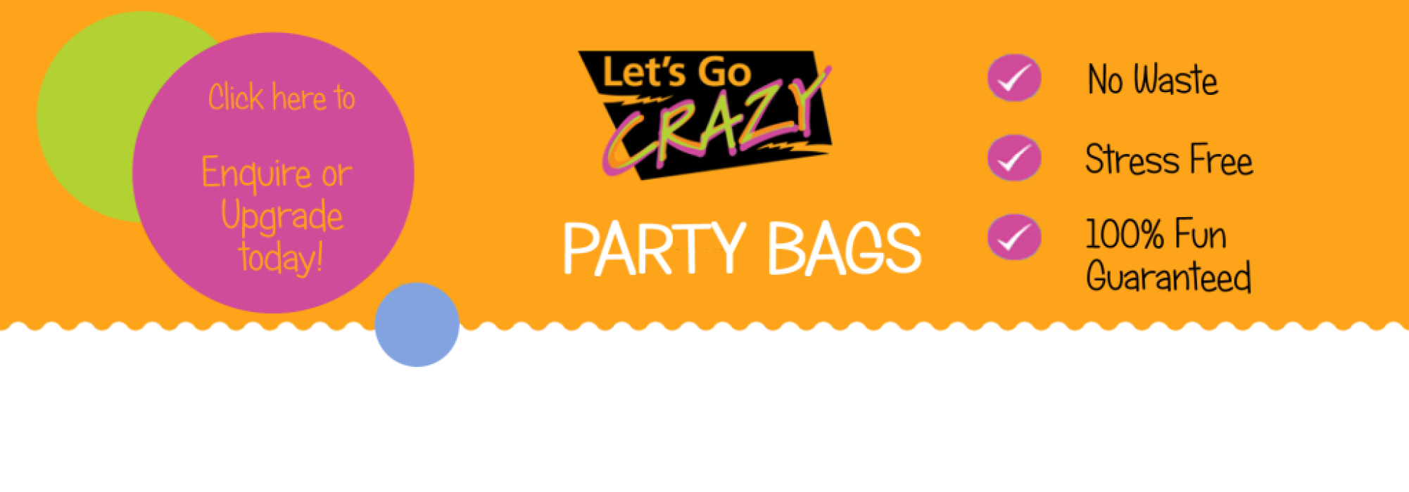 Lets Go Crazy Party Bags