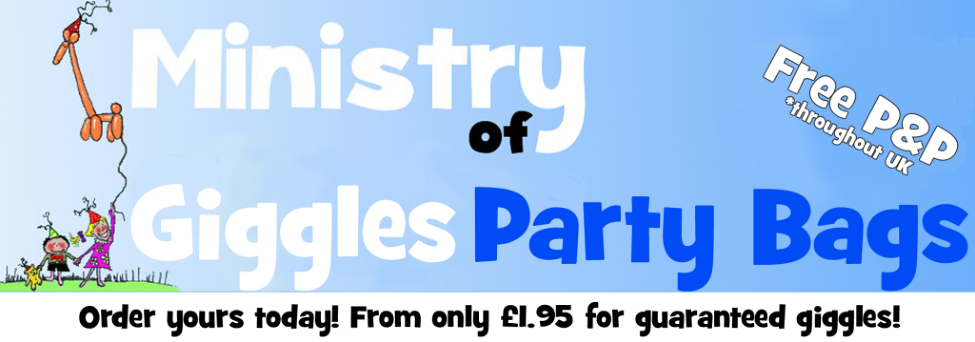 Ministry of Giggles Party Bags
