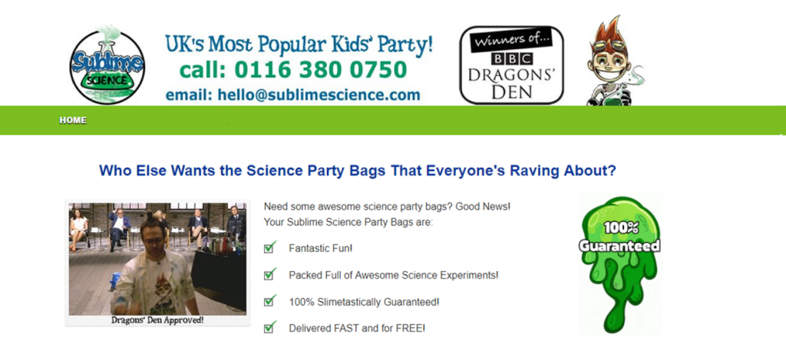 Sublime Science Party Bags