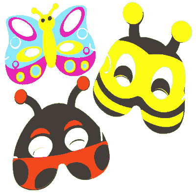 Butterfly, Bee & LadyBird Soft Foam Bug Face Masks