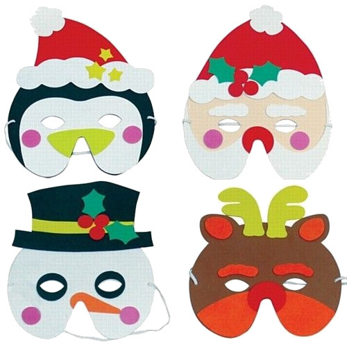 Santa, Rudolph, Snowman or Penguin Themed Christmas Mask - Seasonal Parties  | Special Additions