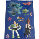 Disney Pixar sticker Sheet for party bags