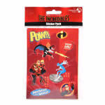 Disney Incredibles Sticker Sheet for party bags