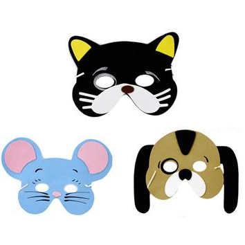 Dog, Cat & Mouse Face Masks