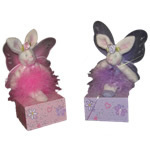 Fairy Bunny Rabbit Pencil Sharpeners, Pink / Lilac