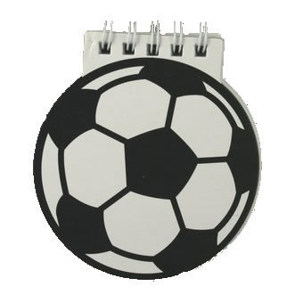 Football Shaped notepad for boys party bags