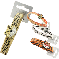 Jungle Animal Armband-Tiger, Zebra, Giraffe & Leopard