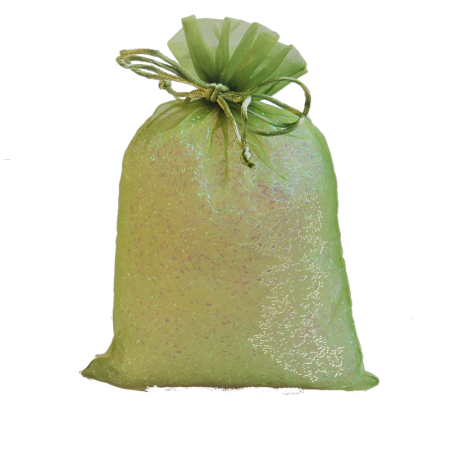Khaki Green Organza Party Bag