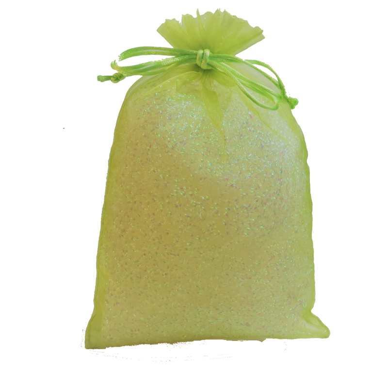 Lime Green Organza Party Bag