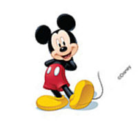Mickey Mouse Temporary Body Tattoo