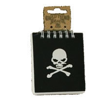 Spiral bound Pirate Skull & Crossbones notebook for party bags