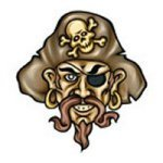 Pirate temporary tattoo for party bag fillers