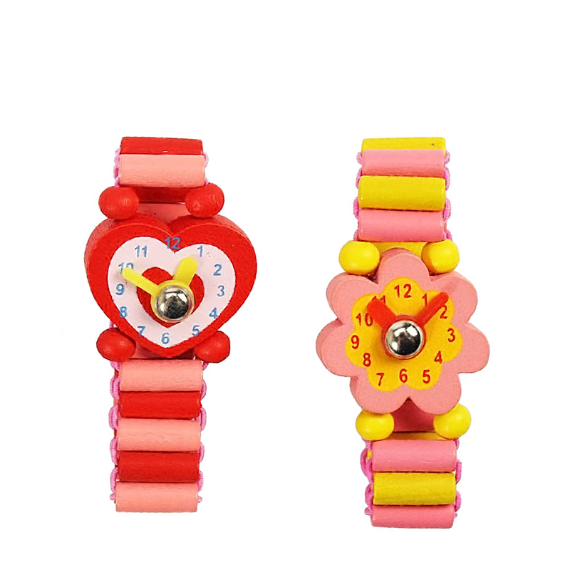 Girls Pretty wooden watch for Goody Bags