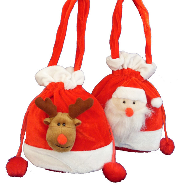 Christmas Plush Party Bags