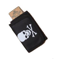 Skull and crossbones pirate wallet