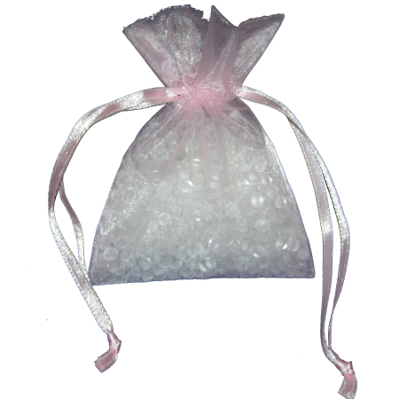 Small Candy Pink Organza Bags
