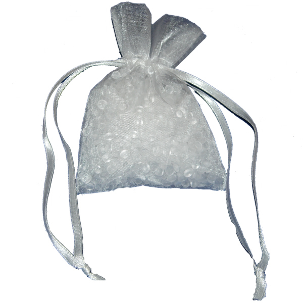 Small Ice White Organza bag