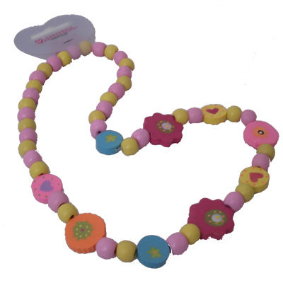 Wooden Handpainted Bead Necklace