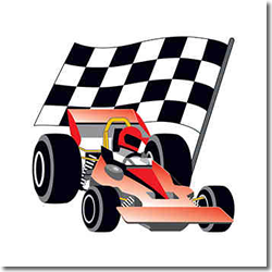 Racing Car Temporary tattoo
