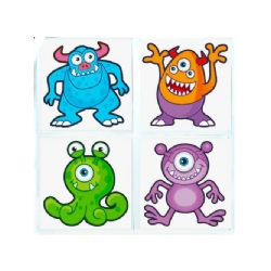 Childrens Monster Temporary Tattoos