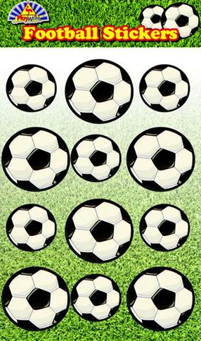 Football sticker Sheet for boys football party bags