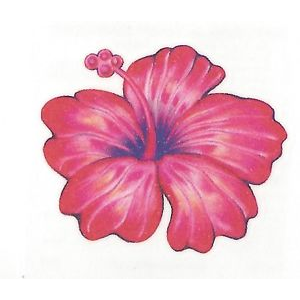 Hibiscus Flower Temporary tattoo