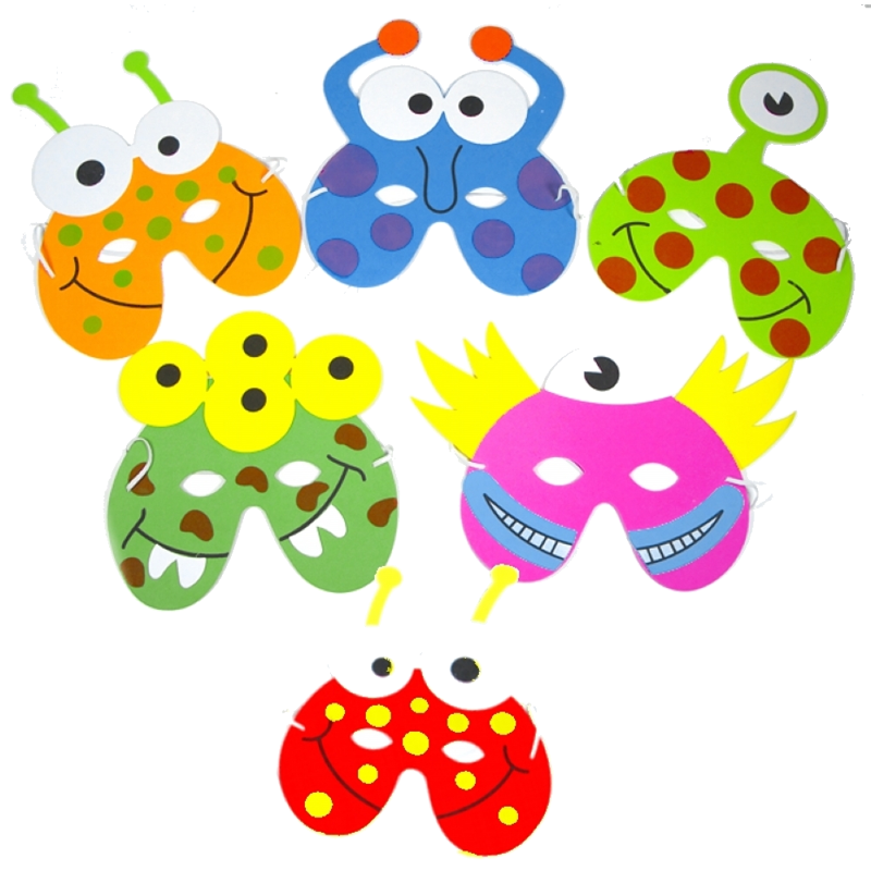 Childrens Monster Foam Face Masks
