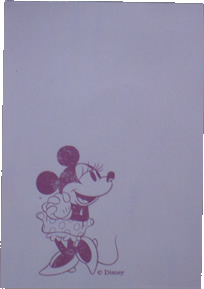 Minnie Mouse Notepad pages