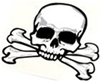 Skull & Crossbones Temporary tattoo for pirate themed party bags