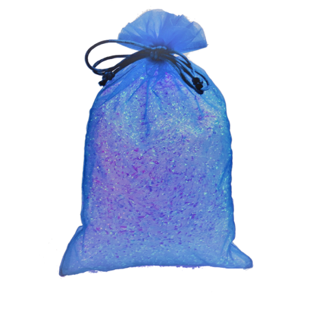 Royal Blue Fabric Drawstring Party Bag