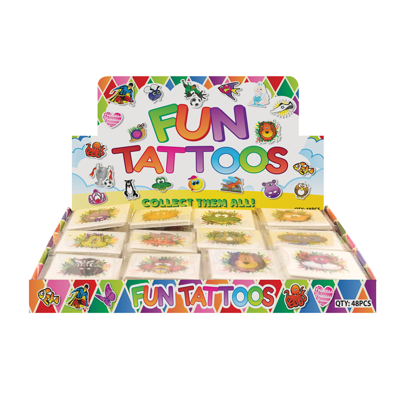 Box of 576 Jungle Animal Party Tattoos